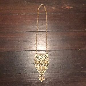 Vintage Gold Owl Necklace